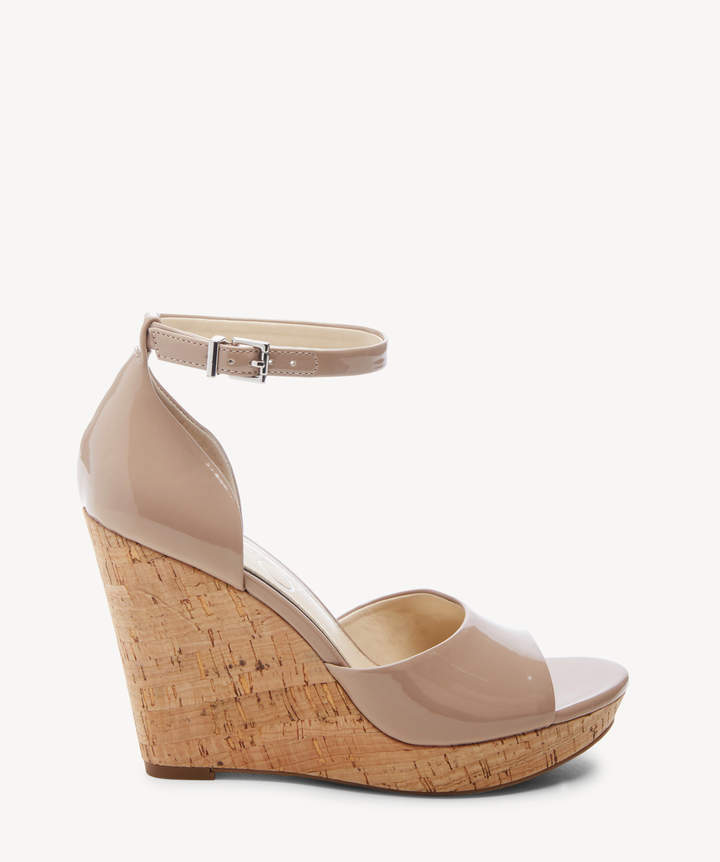 8d437ab834d Women's Jarella Platform Wedges Sandals Nude Size 5 Leather From Sole  Society