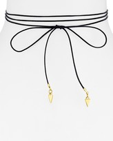 Vanessa Mooney Vista Leather Bolo Wrap and Tie Choker, 53""