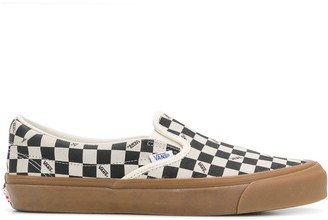 Vans checked slip-on sneakers