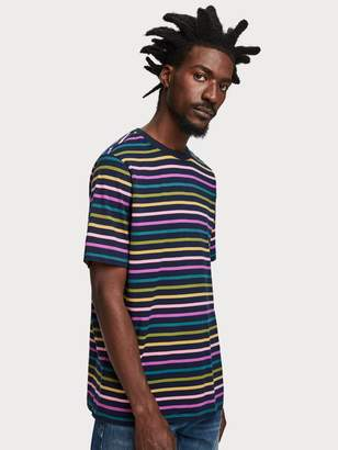 Scotch & Soda Rainbow Stripe T-Shirt