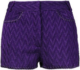 Missoni zigzag mini shorts - women - Silk/Polyester/Spandex/Elastane/Viscose - 38