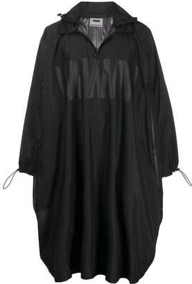 Wwwm oversized hooded rain coat