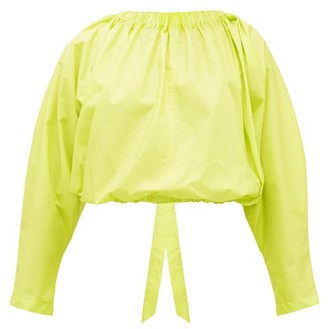 Molly Goddard Bonnie Open-back Cotton Blouse - Womens - Green
