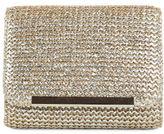Jessica McClintock Katie Metallic Straw Shoulder Bag Clutch