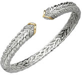 Lord & Taylor Diamond, Sterling Silver and 14K Yellow Gold Bangle Bracelet