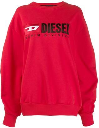 Diesel Contrast Logo Sweatshirt