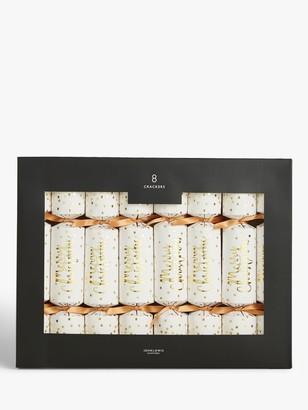 John Lewis & Partners Art Nouveau Merry Christmas Crackers, Pack of 8, Gold