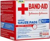 Bandaid First Aid Gauze Pads 3X3 25 ct