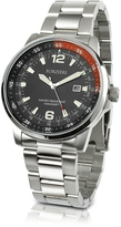 Forzieri Men's Stainless Steel Bracelet Dive Watch