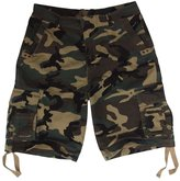 MADHERO Mens Plus Size Loose Fit Baggy Cotton Twill Cargo Shorts Color Black2