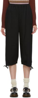 COMME DES GARÇONS GIRL Black Ankle Tie Trousers
