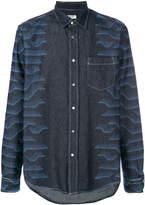 Kenzo abstract print denim shirt