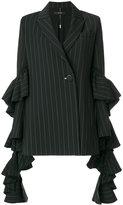 Ellery striped blazer - women - Silk/Polyester/Spandex/Elastane/Wool - 8