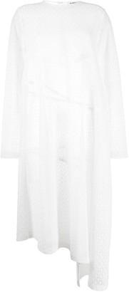 Jil Sander Lace-Pattern Asymmetric Dress