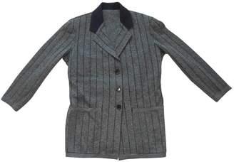 Alaia Khaki Wool Jacket for Women Vintage