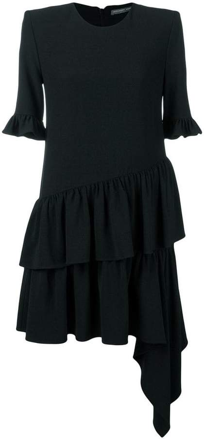 Alexander McQueen ruffle asymmetric shift dress