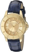 Versus By Versace Women's SH7180015 Tokyo Gold Ion-Plated Watch with Blue Leather Band