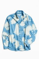 Urban Outfitters Bleached Fuzzy Flannel Button-Down Shirt