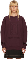 Marc Jacobs Burgundy Logo Sweatshirt