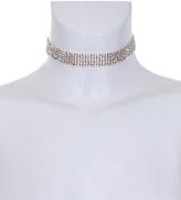 AX Paris Gold and Silver Diamante Choker