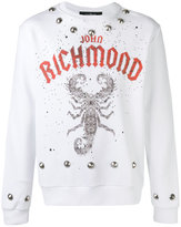 John Richmond scorpion print sweatshirt