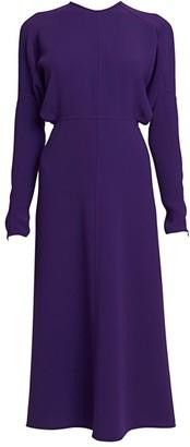 Victoria Beckham Dolman-Sleeve Midi Dress