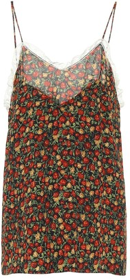 Gucci Floral crepe de chine camisole