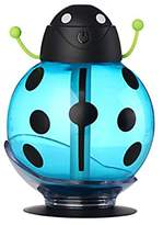 Han Shi Humidifier, 260ml Cute Beatles Aroma Humidifiers, Essential Oil Diffuser, with LED Color Night for kids/Adults (Blue)