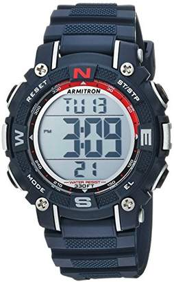Armitron Sport Unisex 45/7099NVY Digital Chronograph Resin Strap Watch
