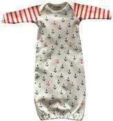 EGELEXY Newborn Toddler Infant Baby Anchors Print Bodysuit Sleeping Bag Sleeper Gown size 0-6 Months