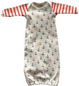 EGELEXY Newborn Toddler Infant Baby Anchors Print Bodysuit Sleeping Bag Sleeper Gown size 6-12 Months