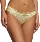 Maidenform Women's Smooth Lace Wide Waist Thong Panty