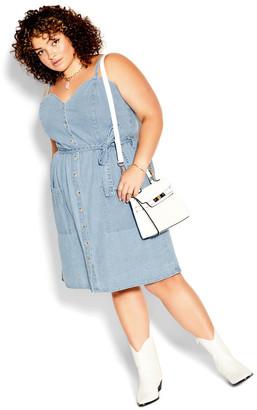 City Chic Sweet Denim Dress - light denim