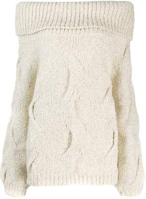 Snobby Sheep off the shoulder sweater
