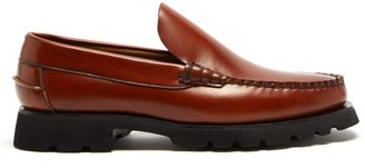 Hereu Roque Sport Chunky-sole Leather Loafers - Tan
