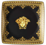 Versace Baroque Nero Square Dish 12cm