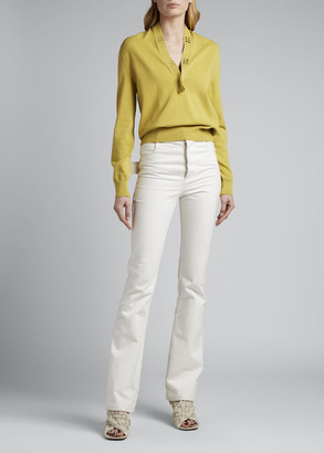 Bottega Veneta V-neck Studded Sweater