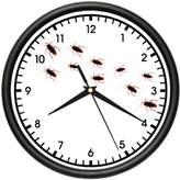 SignMission PEST CONTROL Wall Clock bug man exterminator fun gift