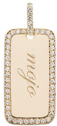 Dru 14kt yellow gold Mojo diamond tag charm