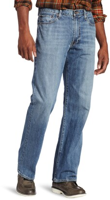 Lucky Brand Men's Big-Tall 181 Relaxed Straight Leg Jean in Light Cardiff 54x30