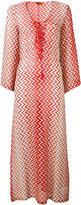 Missoni lace-up V-neck zig-zag dress - women - Polyester/Rayon/Viscose - 40