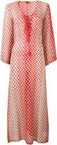 Missoni lace-up V-neck zig-zag dress