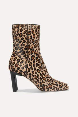 Wandler Isa Leopard-print Calf Hair Ankle Boots - Leopard print