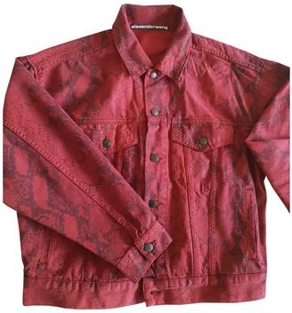 Alexander Wang Burgundy Cotton Jackets