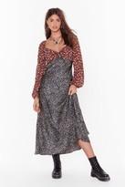 Nasty Gal Womens Mix Us a Drink Floral Leopard Maxi Dress - black - 4, Black