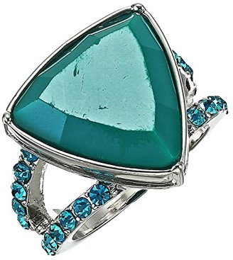 GUESS Resin Stone Ring (Aqua) Ring