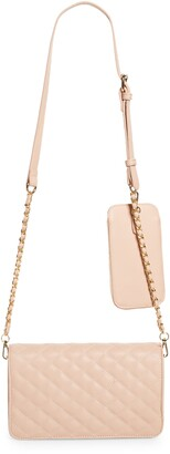 Mali & Lili Winslet Quilted Vegan Leather Crossbody Bag with Detachable Phone Case