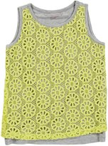 Design History Tunic (Kids) - Marble Heather/Limelight Lace-X-Large