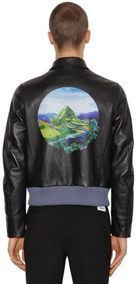 Kenzo Printed Lambskin Leather Jacket