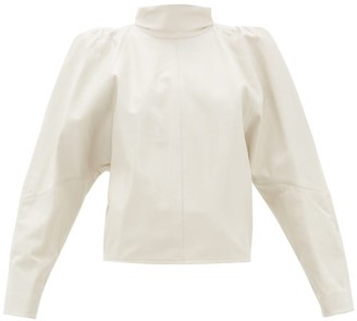 Isabel Marant Caby Leather Shirt - Womens - Ivory